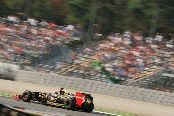© 2012 Octane Photographic Ltd. Italian GP Monza - Friday 7th September 2012 - F1 Practice 1. Lotus E20 - Kimi Raikkonen. Digital Ref : 0505lw1d9310
