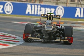 © 2012 Octane Photographic Ltd. Italian GP Monza - Friday 7th September 2012 - F1 Practice 1. Lotus E20 - Jerome d'Ambrosio. Digital Ref : 0505lw7d5331