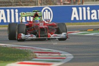 © 2012 Octane Photographic Ltd. Italian GP Monza - Friday 7th September 2012 - F1 Practice 1. Ferrari F2012 - Felipe Massa. Digital Ref : 0505lw7d5416