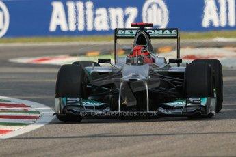 © 2012 Octane Photographic Ltd. Italian GP Monza - Friday 7th September 2012 - F1 Practice 1. Mercedes W03 - Michael Schumacher. Digital Ref : 0505lw7d5695