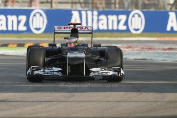 © 2012 Octane Photographic Ltd. Italian GP Monza - Friday 7th September 2012 - F1 Practice 1. Williams FW34 - Pastor Maldonado. Digital Ref : 0505lw7d5703