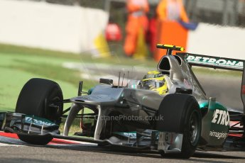 © 2012 Octane Photographic Ltd. Italian GP Monza - Friday 7th September 2012 - F1 Practice 1. Mercedes W03 - Nico Rosberg. Digital Ref : 0505lw7d6253