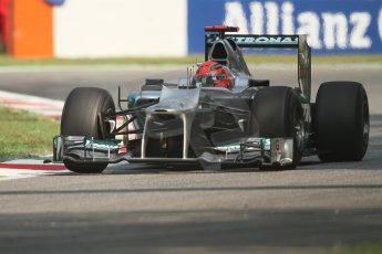 © 2012 Octane Photographic Ltd. Italian GP Monza - Friday 7th September 2012 - F1 Practice 1. Mercedes W03 - Michael Schumacher. Digital Ref : 0505lw7d6282