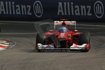 © 2012 Octane Photographic Ltd. Italian GP Monza - Saturday 8th September 2012 - F1 Practice 3. Ferrari F2012 - Fernando Alonso. Digital Ref : 0512lw7d7511