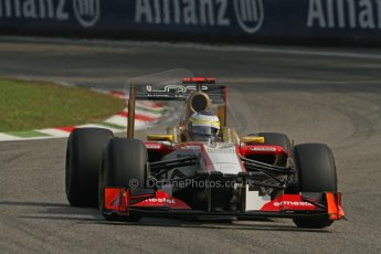 © 2012 Octane Photographic Ltd. Italian GP Monza - Saturday 8th September 2012 - F1 Practice 3. HRT F112 - Pedro de La Rosa. Digital Ref :