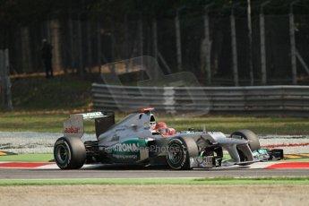 © 2012 Octane Photographic Ltd. Italian GP Monza - Saturday 8th September 2012 - F1 Practice 3. Mercedes W03 - Michael Schumacher. Digital Ref :