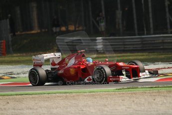 © 2012 Octane Photographic Ltd. Italian GP Monza - Saturday 8th September 2012 - F1 Practice 3. Ferrari F2012 - Fernando Alonso. Digital Ref : 0512lw7d7903