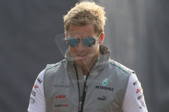 © 2012 Octane Photographic Ltd. Italian GP Monza - Saturday 8th September 2012 - F1 Paddock. Sam Bird - Mercedes Reserve driver. Digital Ref :