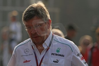 © 2012 Octane Photographic Ltd. Italian GP Monza - Saturday 8th September 2012 - F1 Paddock. Ross Brawn - Mercedes AMG Petronas. Digital Ref :