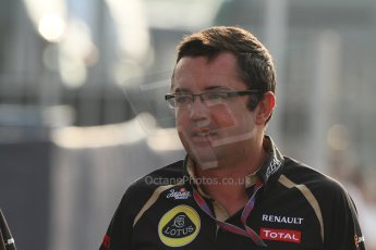 © 2012 Octane Photographic Ltd. Italian GP Monza - Saturday 8th September 2012 - F1 Paddock. Eric Boullier - Lotus. Digital Ref :