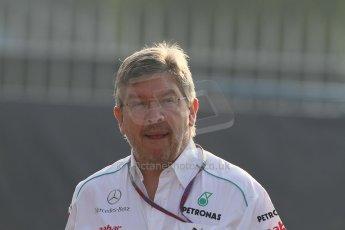 World © Octane Photographic Ltd. Formula 1 Italian GP, F1 Paddock. 9th September 2012. Ross Brawn - Mercedes AMG Petronas. Digital Ref : 0517lw7d8569