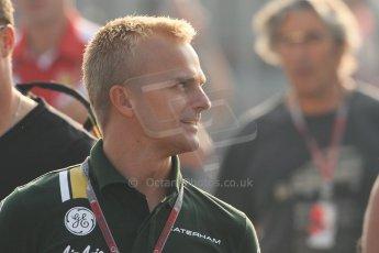World © Octane Photographic Ltd. Formula 1 Italian GP, F1 Paddock. 9th September 2012. Heikki Kovalainen - Caterham. Digital Ref : 0517lw7d8628