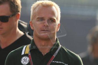 World © Octane Photographic Ltd. Formula 1 Italian GP, F1 Paddock. 9th September 2012. Heikki Kovalainen - Caterham. Digital Ref : 0517lw7d8637