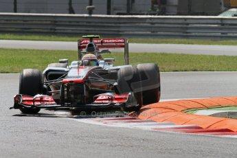 © 2012 Octane Photographic Ltd. Italian GP Monza - Friday 7th September 2012 - F1 Practice 2. McLaren MP4/27 - Lewis Hamilton. Digital Ref :