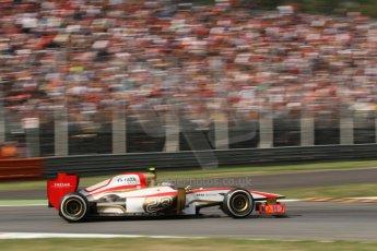 © 2012 Octane Photographic Ltd. Italian GP Monza - Friday 7th September 2012 - F1 Practice 2. HRT F112 - Narain Karthikeyan. Digital Ref :