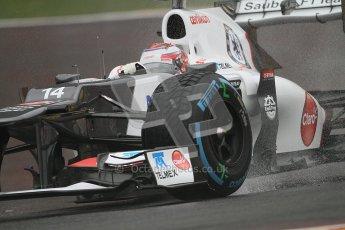 © 2012 Octane Photographic Ltd. Belgian GP Spa - Friday 31st August 2012 - F1 Practice 1. Sauber C31 - Kamui Kobayashi. Digital Ref : 0481lw7d2541