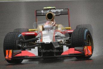 © 2012 Octane Photographic Ltd. Belgian GP Spa - Friday 31st August 2012 - F1 Practice 1. HRT F112 - Dani Clos. Digital Ref : 0481lw7d2562