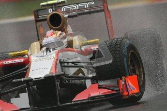 © 2012 Octane Photographic Ltd. Belgian GP Spa - Friday 31st August 2012 - F1 Practice 1. HRT F112 - Dani Clos. Digital Ref : 0481lw7d2967