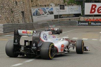 © Octane Photographic Ltd. 2012. F1 Monte Carlo - Practice 2. Thursday 24th May 2012. Sergio Perez and Kamui Kobayashi - Sauber. Digital Ref : 0352cb1d5841