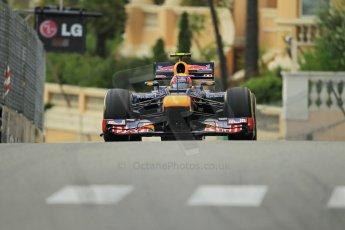 © Octane Photographic Ltd. 2012. F1 Monte Carlo - Practice 2. Thursday 24th May 2012. Mark Webber - Red Bull. Digital Ref : 0352cb1d5966