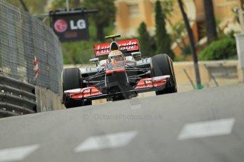 © Octane Photographic Ltd. 2012. F1 Monte Carlo - Practice 2. Thursday 24th May 2012. Lewis Hamilton - McLaren. Digital Ref : 0352cb1d5979