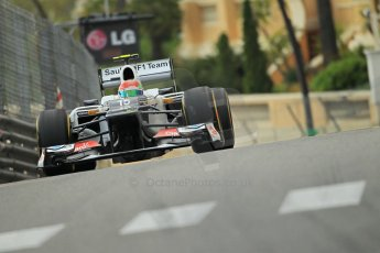 © Octane Photographic Ltd. 2012. F1 Monte Carlo - Practice 2. Thursday 24th May 2012. Sergio Perez - Sauber. Digital Ref : 0352cb1d5981