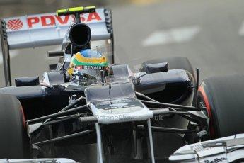 © Octane Photographic Ltd. 2012. F1 Monte Carlo - Practice 2. Thursday 24th May 2012. Bruno Senna - Williams. Digital Ref : 0352cb1d5997