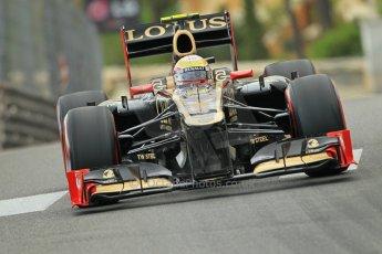 © Octane Photographic Ltd. 2012. F1 Monte Carlo - Practice 2. Thursday 24th May 2012. Romain Grosjean. Digital Ref : 0352cb1d6015