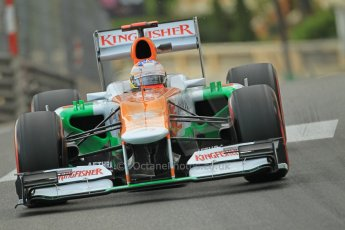 © Octane Photographic Ltd. 2012. F1 Monte Carlo - Practice 2. Thursday 24th May 2012. Paul di Resta - Force India. Digital Ref : 0352cb1d6021