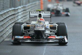 © Octane Photographic Ltd. 2012. F1 Monte Carlo - Practice 2. Thursday 24th May 2012. Sergio Perez - Sauber. Digital Ref : 0352cb1d6117