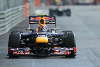 © Octane Photographic Ltd. 2012. F1 Monte Carlo - Practice 2. Thursday 24th May 2012. Mark Webber - Red Bull. Digital Ref : 0352cb1d6134