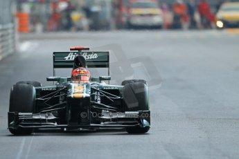 © Octane Photographic Ltd. 2012. F1 Monte Carlo - Practice 2. Thursday 24th May 2012. Heikki Kovalainen - Caterham. Digital Ref : 0352cb1d6138