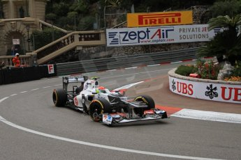 © Octane Photographic Ltd. 2012. F1 Monte Carlo - Practice 2. Thursday 24th May 2012. Sergio Perez - Sauber. Digital Ref : 0352cb7d8037