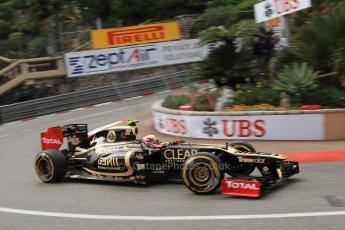 © Octane Photographic Ltd. 2012. F1 Monte Carlo - Practice 2. Thursday 24th May 2012. Romain Grosjean - Lotus. Digital Ref : 0352cb7d8059