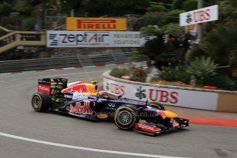 © Octane Photographic Ltd. 2012. F1 Monte Carlo - Practice 2. Thursday 24th May 2012. Mark Webber - Red Bull. Digital Ref : 0352cb7d8079