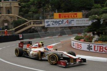© Octane Photographic Ltd. 2012. F1 Monte Carlo - Practice 2. Thursday 24th May 2012. Narain Karthikeyan - HRT. Digital Ref : 0352cb7d8086