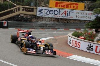 © Octane Photographic Ltd. 2012. F1 Monte Carlo - Practice 2. Thursday 24th May 2012. Daniel Ricciardo - Toro Rosso. Digital Ref : 0352cb7d8101
