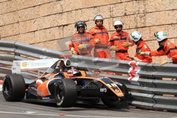 © Octane Photographic Ltd. 2012. Formula Renault 3.5 Monte Carlo - Race. Sunday 27th May 2012. Anton Nebylitskiy - Team RFR, in the wall. Digital Ref : 0359cb7d9617