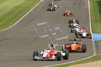 © Octane Photographic Ltd. 2012. Donington Park. Saturday 18th August 2012. Formula Renault BARC Race 1. Kieran Vernon - Hillspeed.  Kieran Vernon - Hillspeed, leads the battle for 3rd early in the race. Digital Ref : 0462cb7d0632