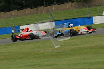 © Octane Photographic Ltd. 2012. Donington Park. Sunday 19th August 2012. Formula Renault BARC Race 2. Oliver Sirrell - ACS Motorsport and Hongwei Cao - Fortec Motorsports. Digital Ref : 0463lw1d3288