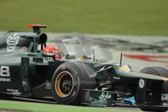 © 2012 Octane Photographic Ltd. German GP Hockenheim - Friday 20th July 2012 - F1 Practice 1. Caterham CT01 - Heikki Kovalainen. Digital Ref : 0410lw1d3598