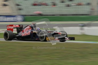 © 2012 Octane Photographic Ltd. German GP Hockenheim - Friday 20th July 2012 - F1 Practice 1. Toro Rosso STR7 - Daniel Ricciardo. Digital Ref : 0410lw7d0710