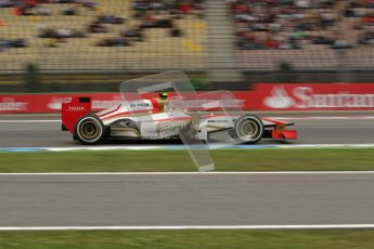 © 2012 Octane Photographic Ltd. German GP Hockenheim - Friday 20th July 2012 - F1 Practice 1. HRT F112 - Dani Clos. Digital Ref : 0410lw7d1246