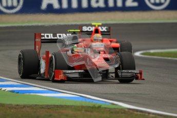 © 2012 Octane Photographic Ltd. German GP Hockenheim - Friday 20th July 2012 - GP2 Practice 1 - Scuderia Coloni - Fabio Onidi and Arden International - Luiz Razia. Digital Ref : 0412lw7d4667