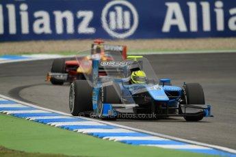 © 2012 Octane Photographic Ltd. German GP Hockenheim - Friday 20th July 2012 - GP2 Practice 1 - Ocean Racing Technology - Nigel Melker leads the Racing Engineering of Fabio Leimer. Digital Ref : 0412lw7d4692
