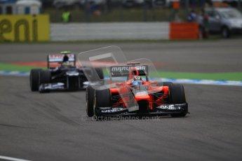 © 2012 Octane Photographic Ltd. German GP Hockenheim - Saturday 21st July 2012 - F1 Qualifying session 1. Marussia MR01 - Timo Glock. Digital Ref : 0417lw1d3010