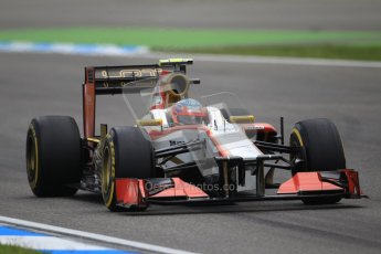 © 2012 Octane Photographic Ltd. German GP Hockenheim - Saturday 21st July 2012 - F1 Qualifying session 1. HRT F112 - Narain Karthikeyan. Digital Ref : 0417lw1d3218