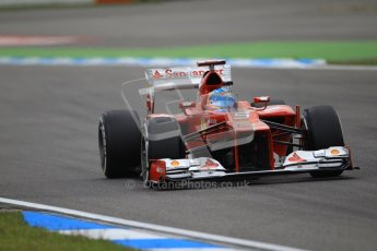 © 2012 Octane Photographic Ltd. German GP Hockenheim - Saturday 21st July 2012 - F1 Qualifying session 1. Ferrari F2012 - Fernando Alonso. Digital Ref : 0417lw1d3356