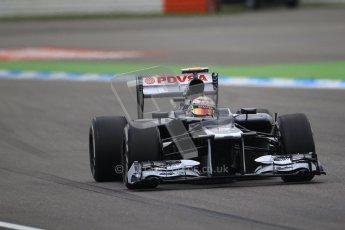 © 2012 Octane Photographic Ltd. German GP Hockenheim - Saturday 21st July 2012 - F1 Qualifying session 1. Williams FW34 - Bruno Senna. Digital Ref : 0417lw1d3397