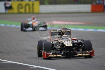 © 2012 Octane Photographic Ltd. German GP Hockenheim - Saturday 21st July 2012 - F1 Qualifying session 1. Lotus E20 - Kimi Raikkonen. Digital Ref : 0417lw1d3450